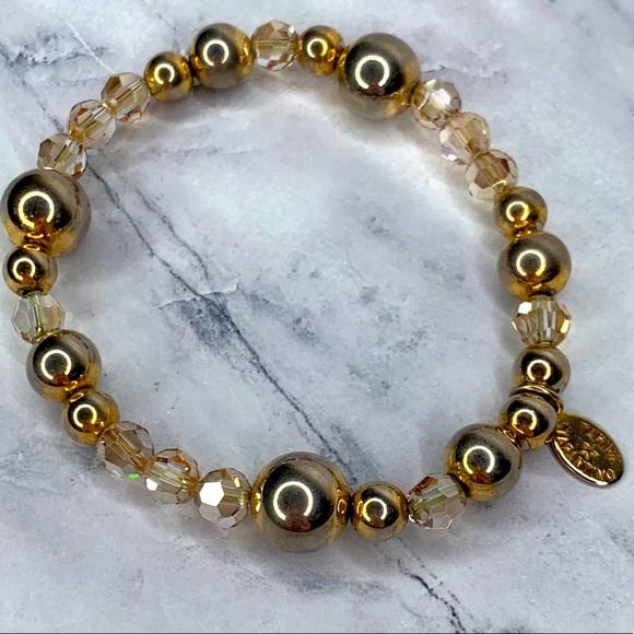 Tarina Tarantino Gold and Crystal Bracelet